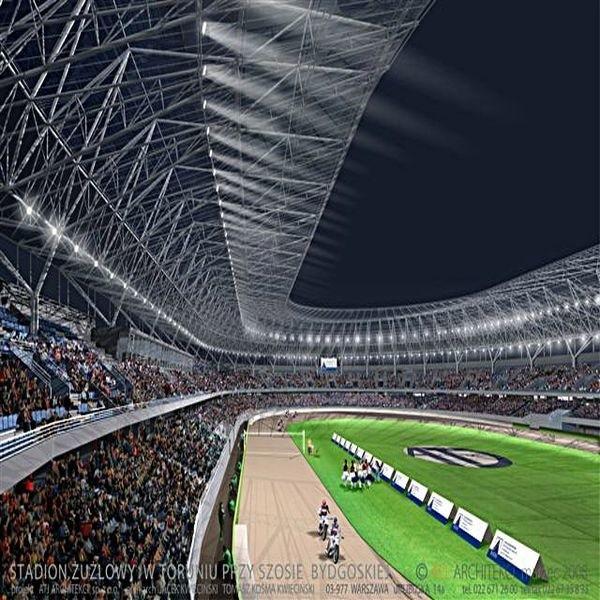 Wizualizacja stadionu -na podstawie projektu budowlanego.