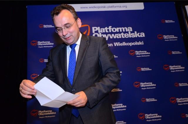 Sąd partyjny PO wyłącznie z powodów formalnych zakończył sprawę Filipa Kaczmarka, byłego europosła i szefa poznańskiej Platformy