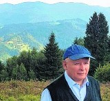 Jarosław Kaczyński wędruje po Beskidzie Sądeckim
