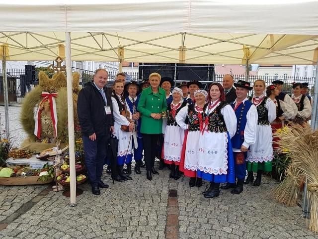 Wieniec gminy Leżajsk zajął drugie miejsce podczas Dożynek Prezydenckich w Warszawie.