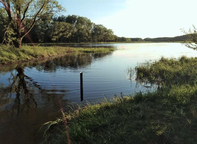 W jeziorze Nowym w Suchatówce przybyło ostatnio wody. Akwen już dawno nie był tak duży jak obecnie