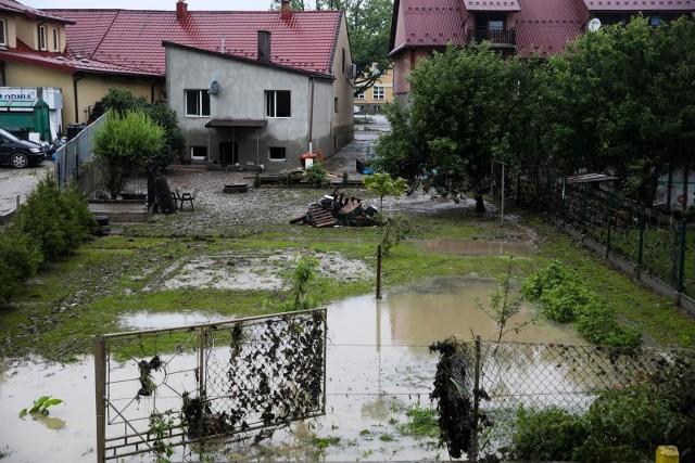 Czerwiec 2020. Skutki powodzi w Łapanowie i okolicy