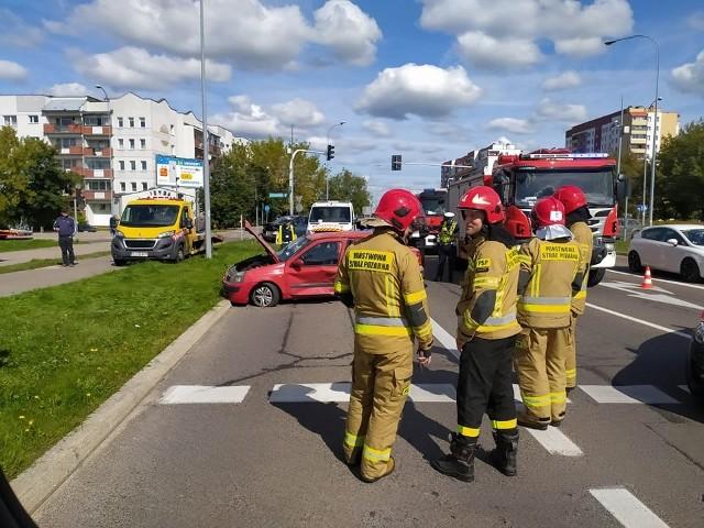 Wypadek na skrzyżowaniu Sikorskiego z Popiełuszki w Białymstoku