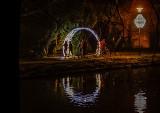 Świąteczne iluminacje w Parku Oliwskim zachwycają zwłaszcza wieczorami. To naprawdę warto zobaczyć!