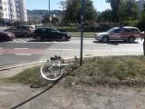 Rowerzystka potrącona na Kamiennej. Trafiła do szpitala