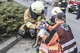 Pożar domu jednorodzinnego pod Zieloną Górą. Strażacy uratowali psa i domowników!