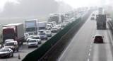 Ogromny korek na trasie z Bydgoszczy w kierunku węzła w Stryszku