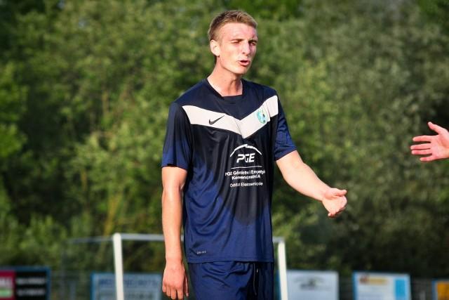 Zdobywca bramki dla Swornicy - Bartosz Brzozowski.