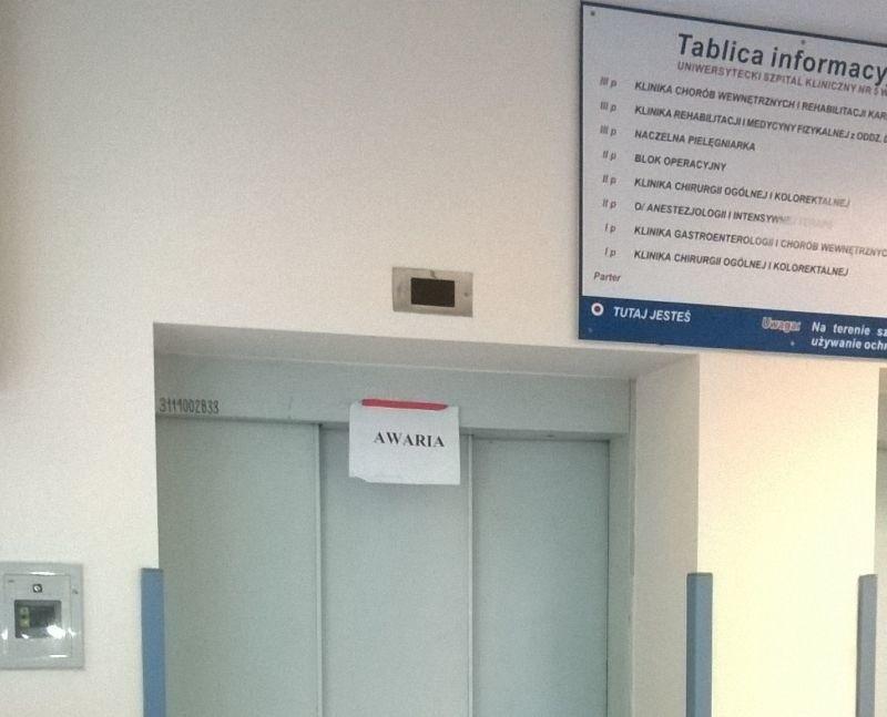 Popsute windy w szpitalu im. WAM. Pacjenci mają problem