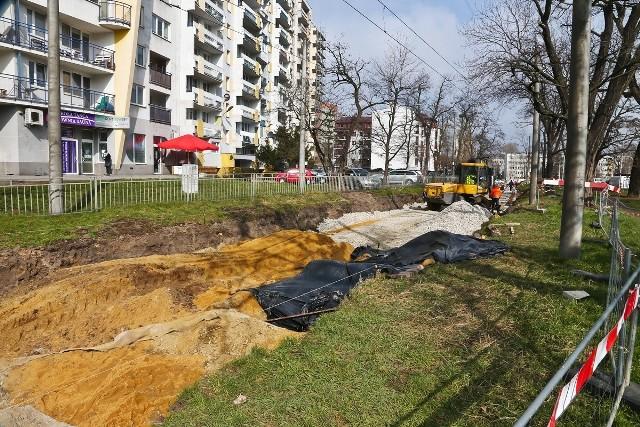 Budowa nowego torowiska na ul. Złotoryjskiej