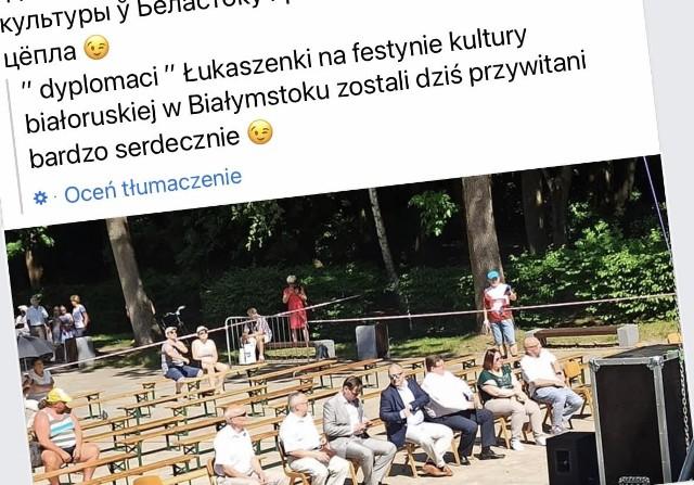 W niedzielnym koncercie uczestniczyli białoruscy dyplomacji. Koncert wsparł marszałek województwa i prezydent Białegostoku. Tymczasem Unia Europejska wprowadza kolejne sankcje na reżim Łukaszenki
