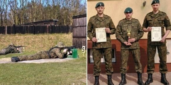 Najlepsi z najlepszych, mistrzowie celnego ognia – od lewej: starsi szeregowi: Szymon Baran, Krzysztof Spruszyński i Eryk Karolak.