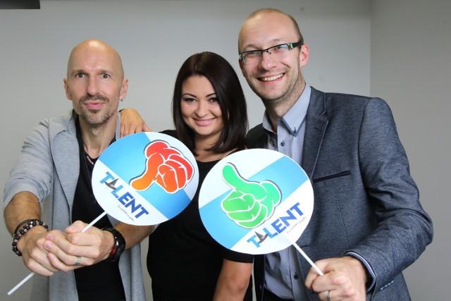 Do udziału w show Talent Opatowski zapraszają jurorzy, od lewej: Łukasz Sobieraj, Kamila Drezno i Krzysztof Kubalski.