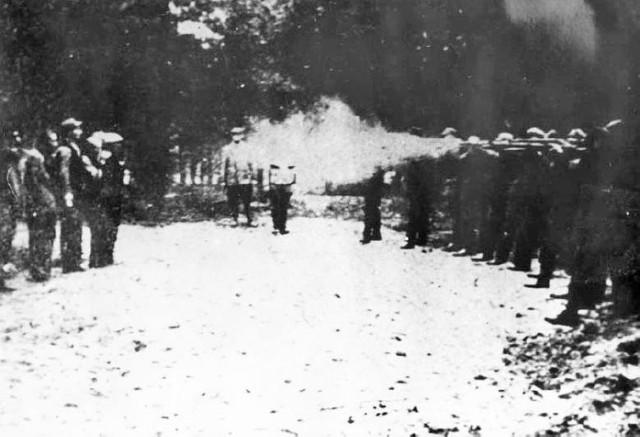 Zdjęcie egzekucji na Barbarce w 1939 roku