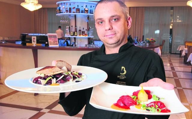 Szef kuchni hotelu Binkowski w Kielcach, Rafał Piotrowski, poleca karnawałowe menu.