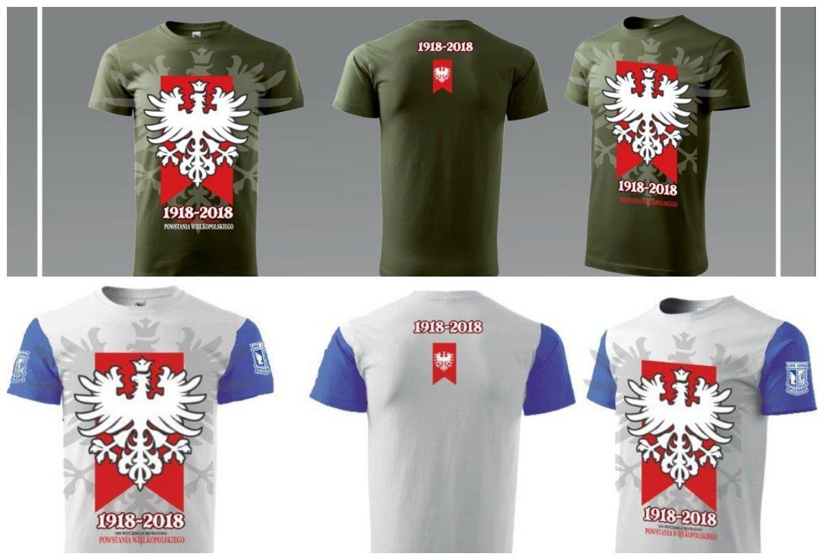 6c6493bbf W ramach obchodów 100. rocznicy Powstania Wielkopolskiego kibice Lecha  Poznań przygotowali do sprzedaży specjalne koszulki