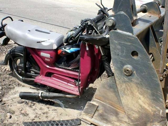 Motorowerzysta zmarł w szpitalu