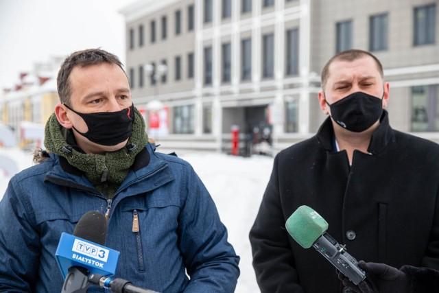 Maciej Biernacki i Tomasz Kalinowski liczą, że przygotowane przez nich stanowisko poprą radni Koalicji Obywatelskiej
