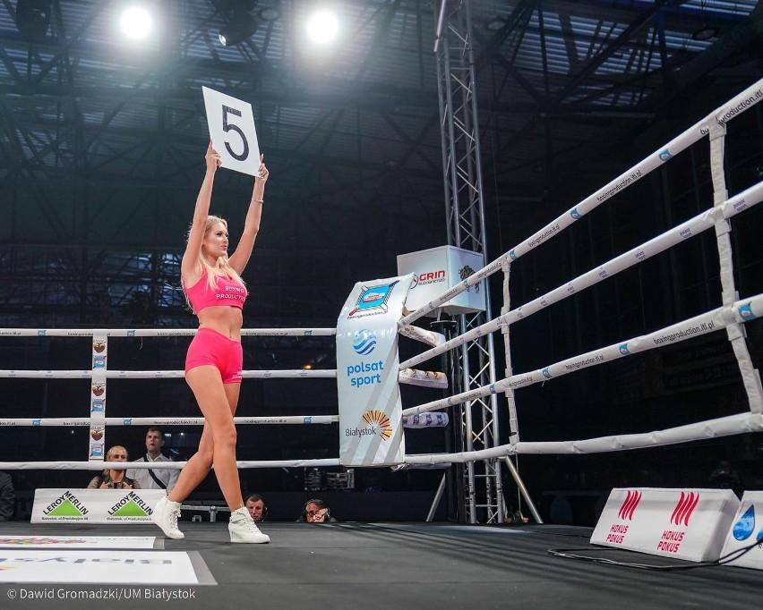 Podlaskie Ring Girls. Dziewczyny na podlaskich galach MMA i boksu zawodowego z Suwałk, Łomży i Białegostoku. Są ozdobą walk [ZDJĘCIA]
