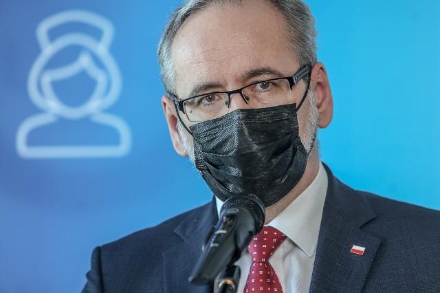 Minister zdrowia Adam Niedzielski podczas wizyty w Gdańsku, 3.03.2021