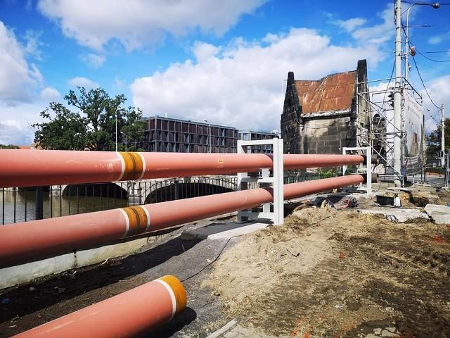 Remont mostów Pomorskich we Wrocławiu, koniec sierpnia 2020