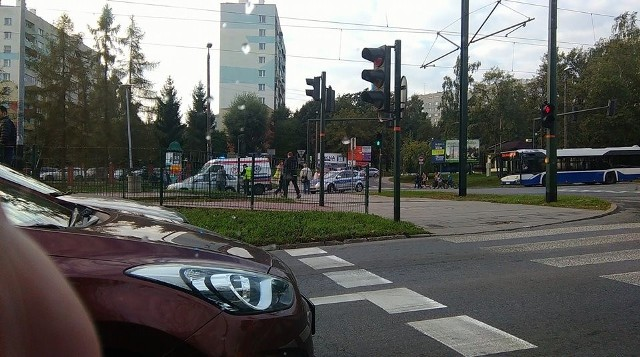 Miejsce wypadku na ul. Nowosądeckiej.