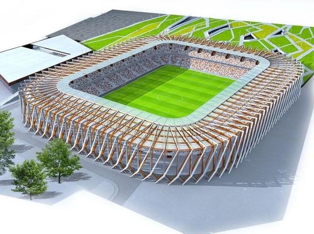 Wizualizacja nowego stadionu w Białymstoku