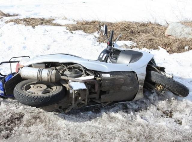 40-letnia motorowerzystka po wypadku na trasie Czerwonki – Radziłów trafiła do szpitala