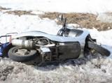 Czerwonki - Radziłów. Wypadek motorowerzystki. Ciężarówka zajechała jej drogę