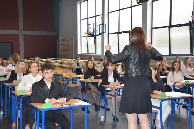 Jeden z egzaminów w II LO w Chojnicach