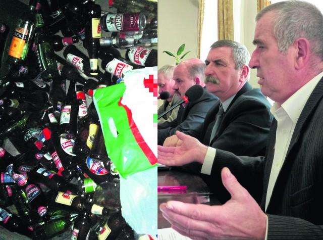 Radny Jerzy Wieczorek wraz z innymi radnymi opozycji nie mogli uwierzyć, że w budynku po byłym ośrodku zdrowia  mogło dochodzić do libacji alkoholowych. Widok na to jednak wskazywał