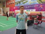 Dobra gra Tymoteusza Malika ze Stali Nowa Dęba na Młodzieżowych Mistrzostwach Polski w badmintonie. Zdobył srebrny medal