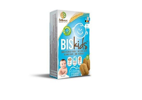 Opakowanie wycofywanych ciastek - Belkorn Biskids 6+ nature with apple flavour, no added sugar, 150 g