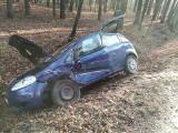 Zderzenie dwóch samochodów w Jeżowem, w akcji służby ratownicze (ZDJĘCIA)