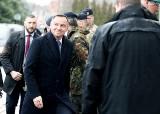 Andrzej Duda na uroczystości w Koszarach Bałtyckich. Prezydent złożył wizytę w Dowództwie Wielonarodowego Korpusu Północny-Wschód