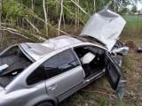 19-latek dachował i uderzył w drzewo. Do wypadku doszło na łuku drogi powiatowej z Goliny do Kazimierza Biskupiego