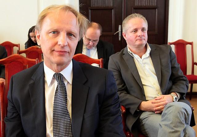 Włodzimierz Tomaszewski i Piotr Misztal podczas sesji