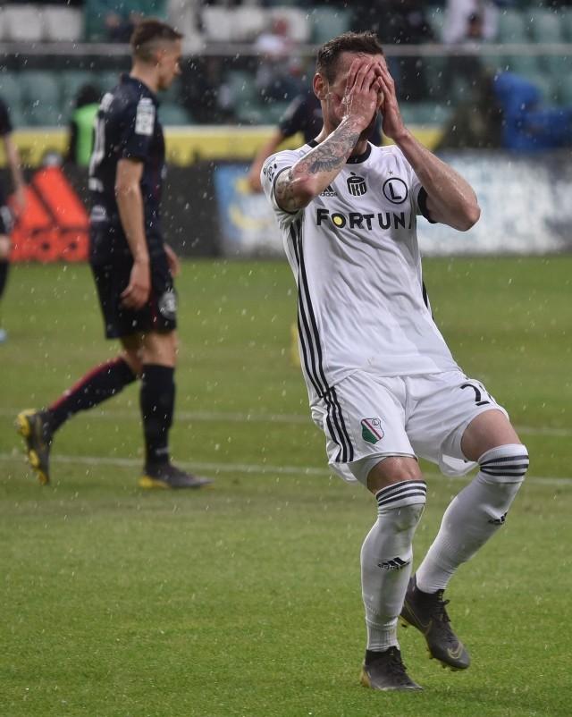 Dominik Nagy strzelił wyrównującego gola w meczu z Pogonią Szczecin.