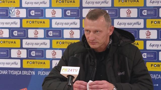 Żuraw o meczu ze Zniczem: Marchwiński poczuł ból w łydce, a Czerwiński w plecach