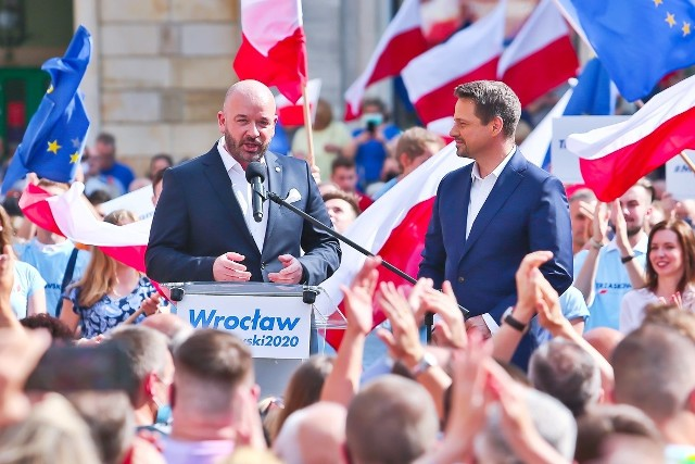 Wiec wyborczy Rafała Trzaskowskiego we Wrocławiu