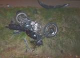 Pow. wyszkowski. 15-letni motocyklista bez uprawnień poszkodowany w wypadku w Somiance. 10.12.2020. Zdjęcia