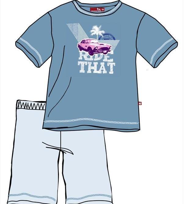 To właśnie ta piżama na zdjęciu, zawiera w nadruku na bluzie, ołów. Fot. Textilmarket