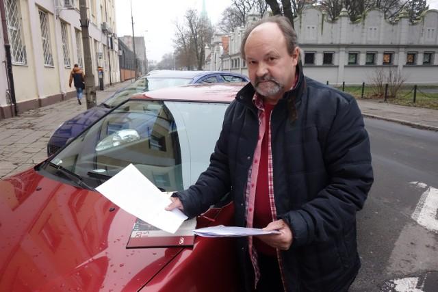 Andrzej Kulesza uważa, że do kolizji nie doszło z jego winy i że nie miał obowiązku znać kategorii dróg