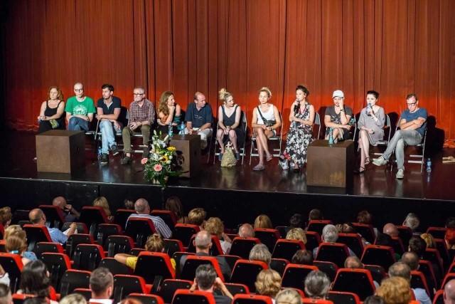 """Spotkanie z widzami po spektaklu """"Klątwa"""" w chorzowskim Teatrze Rozrywki, 3 sierpnia 2017"""