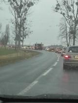 Droga z Jelcza do Wrocławia. Totalny korek. I to na długo