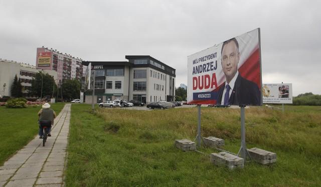 Bilbordy wyborcze Andrzeja Dudy w Rzeszowie.