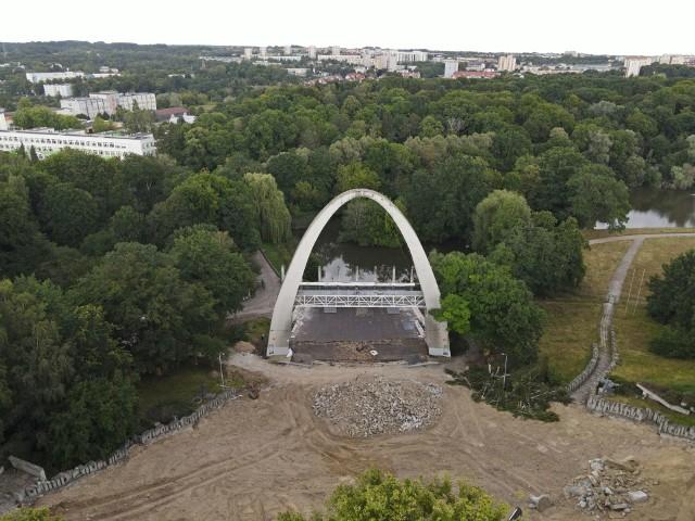 Teatr Letni w Szczecinie w przebudowie.