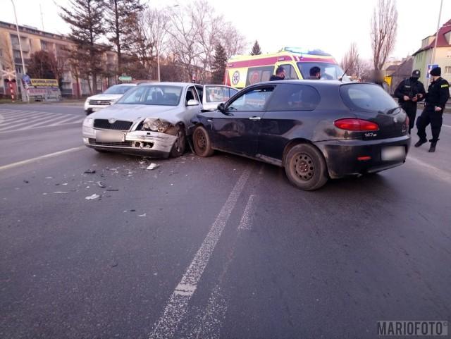 Wypadek na skrzyżowaniu Luboszyckiej i Nysy Łużyckiej.
