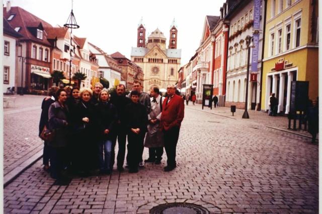 Nauczyciele z powiatu kluczborskiego mieli w Niemczech także czas na zwiedzanie. Byli między innymi w katedrze w Speyer.