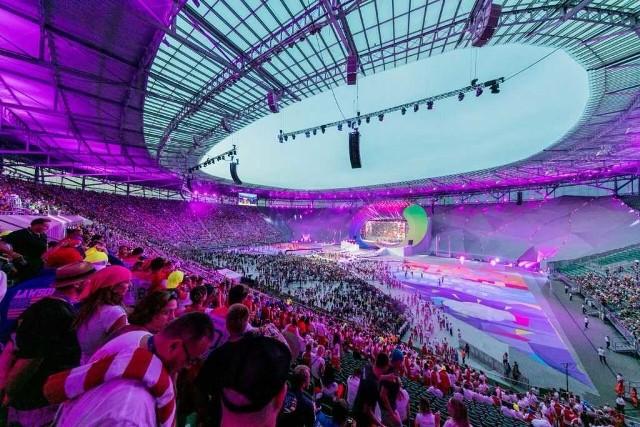 Inaugurację The World Games 2017 z trybun Stadionu Wrocław oglądało 25 tysięcy widzów.